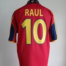 Spain Home Football Shirt Adult Large RAUL #10 1999/2002 EURO 2000
