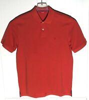 Izod Mens Golf Polo Shirt Size L Short Sleeve Orange Cotton