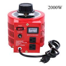 20amp Variac Transformer Variable Ac Voltage Regulator Metered 2000w 0 130v