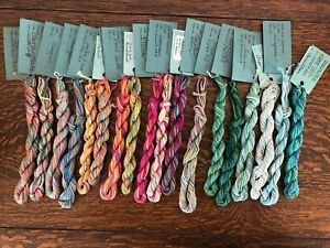 WATERCOLORS BY CARON HAND PAINTED PIMA COTTON THREAD LOT OF 18 (2)