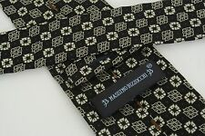 Massimo Bizzocchi of Kiton Necktie Tie Brown Beige Blue Foulard Pattern Silk