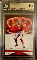 BGS 9.5 = PSA 10 RC Patrick Mahomes II 2017 Crown Royale #84 Tough HOT ROOKIE🔥
