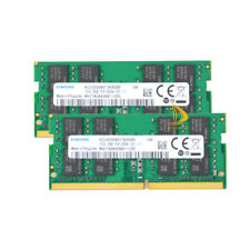 32GB Samsung 2x 16GB 2RX8 DDR4 2666V PC4-21300 SODIMM CL19 Laptop Memory RAM $RT