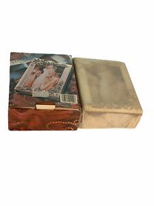 Vintage SILVERPLATED Godinger Satin Rose Mini Photo Album HOLDS 100 4 x 6 Photos