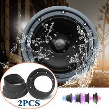 2X Silica Gel Car Door Audio 6.5'' Speaker Waterproof Cover Foldable Trim Washer