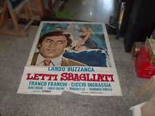 LETTI SBAGLIATI manifesto 2F originale 1964 BUZZANCA FRANCHI INGRASSIA