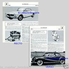 BMW 3200 L (limousine) BMW 3200 CS coupé   - PRESSE FICHE AUTO COLLECTION  #J1