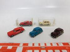 CA460-0,5# 5x Wiking 1:87/H0 PKW Ford: 820 12 Taunus + Capri + 204 Sierra, s.g.