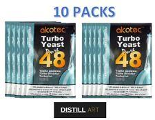 Alcotec 48 Hour TURBO YEAST High Alcohol Spirit Vodka Cider Making - 10 PACKS