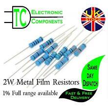 2W Metal Film Resistors 1% 5pack Full range available  *UK SELLER* Free P&P