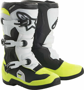 Alpinestars 2018 Tech 3S Boots 8 Black/White/Yellow 2014018-125-8