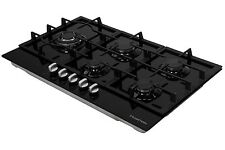 Russell Hobbs Glass hob with 5 Gas Burners, Manual Dial Control, RH75GH601B