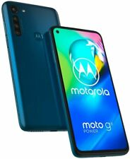 "Motorola Moto G8 POWER (64GB + 4GB) XT2041-1 6.4"" FHD+ Display Dual SIM Blue NEW"
