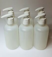 6 x 32oz HDPE Empty Plastic Boston Bottles With Pump. DIY fill projects!