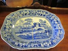 Early Spode Tower Pattern Turkey Game Dish c.1800-20