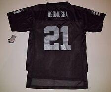 645571034 Youth  21 Black NFL Raiders Asomugha Kid s Jersey ...