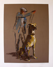 "Leroy Neiman ""Great Dane"" Tall gentle giant breed of dog hand signed/# serigraph"
