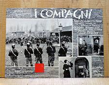 I COMPAGNI fotobusta poster Mastroianni Monicelli Operai Sciopero Torino BO23