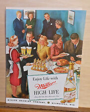 1941 magazine ad for Miller High Life Beer - Partygoers enjoy life with Miller
