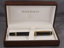 Waterman #200 Le Mans Black Medium point fountain pen--new old stock