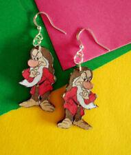 Orecchini earrings Brontolo 7 nani cucciolo mammolo eolo disney creazioni fimo