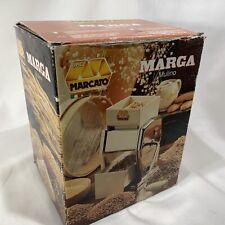 Unused in Open Box - Marcato Marga Mulino Hand Crank Grain Mill Wheat Grinder -Z