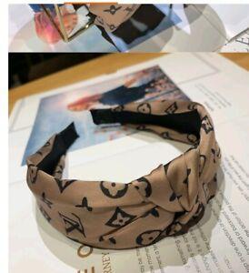 Korean print New Womens Headband Twist Hairband Knot Cross Tie Headwrap