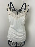 Vintage 60s Wonder Maid Non-Cling Lace Trimmed Union Made Camisole Top Size 32