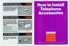 Gemini - How to Install Telephone Accessories - Manual 1983