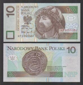 Poland - P#173a 10 Polish Zloty 25.03.94 (1995) Uncirculated Banknote.