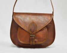 HANDMADE VINTAGE DESIGNER PURE LEATHER SATCHEL SADDLE BAG RETRO RUSTIC