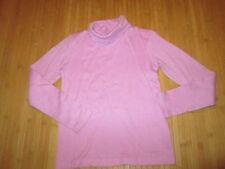 Tee-shirt col roulé,Uni Rose,ML,T10ans,marque Oxylane,en TBE