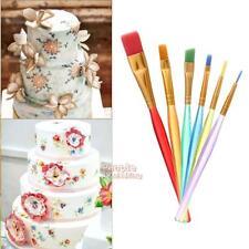 6pcs DIY Cake Decorating Pen Set Food Paint Brush Icing Cupcake Sugarcraft Tools