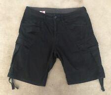 G Star Raw Black Rovic Loose 1/2 Cargo Shorts W32