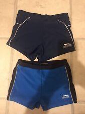 Slazenger square cut swimming trunk/shirts X2. Age 11-12& XS. Used