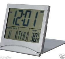 Desk Clock Digital Calendar Time Thermometer Alarm Secretary Gray Desktop New