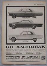 1964 Ford Fairlane 500, Galaxie & Falcon Original advert No.1
