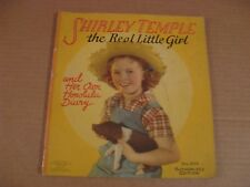 Vintage Collectible - Shirley Temple the Real Little Birl  Book from 1938