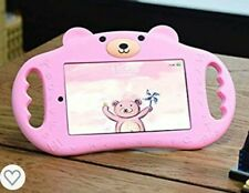 pzoz Case Compatible iPad Case for Kids Shockproof Silicone Handle Stand Pink