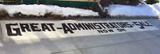 Giant Vintage Canvas Banner Great Administrator Sale 215 Foot Painted Letters
