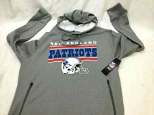 New England Patriots Wicking Retro Logo Hoodie Hooded Sweatshirt Mens Small