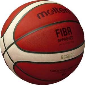 "Molten B7G5000 FIBA Basketball Premium Leather Size 7-29.5"" US  Seller GL7X Repl"