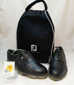 (NUN) FootJoy Black Golf Shoes - Men's size 8