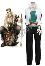One Piece Roronoa Zoro Sword Master Cosplay Costume Cos Cloth