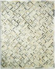 Restoration Hardware Diamond Grey Cowhide Rug Handmade 8x10  $$$ $5349 MSRP $$$
