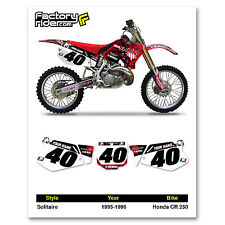 1995-1996 HONDA CR 250 Number Plate Dirt Bike Graphics Solitaire By Enjoy MFG
