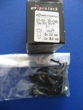 80 Stück Pezón para Radios Aluminio Dt Prolock Negro 2,0 -16Mm Losa Nuevo