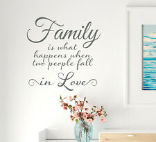 Vinyl Wall Decal Family Romantic Happiness Stickers 22.5 in x 22.5 in Grey gz320