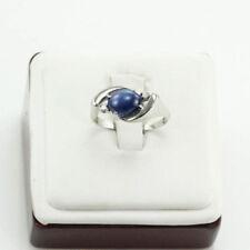 Anelli di lusso con gemme blu naturale cabochon