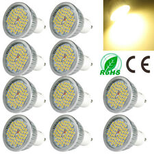 10X 60leds GU10 LED Light Bulbs Energy Saving 3000K Warm White Spotlight Lamp Ib